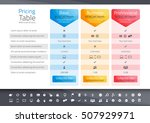 light pricing table with 3... | Shutterstock .eps vector #507929971
