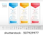 light pricing table with 3... | Shutterstock .eps vector #507929977