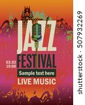 banner music poster with jazz... | Shutterstock .eps vector #507932269