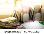 rejected  stack of documents.... | Shutterstock . vector #507932659