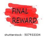 final reward vector card | Shutterstock .eps vector #507933334