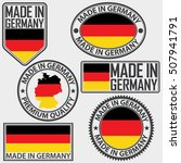 made in germany label set with... | Shutterstock .eps vector #507941791