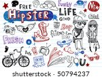 hipsters doodle set | Shutterstock .eps vector #50794237