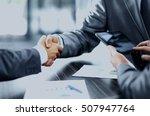 business people shaking hands | Shutterstock . vector #507947764