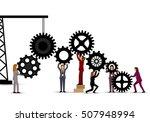 business people teamwork  ... | Shutterstock .eps vector #507948994