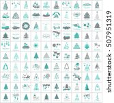 christmas icons set  isolated... | Shutterstock .eps vector #507951319