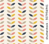 seamless floral pattern with... | Shutterstock .eps vector #507956941