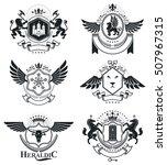 heraldic signs  elements ...   Shutterstock .eps vector #507967315