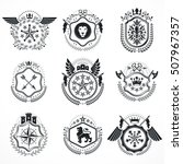 vintage emblems  vector... | Shutterstock .eps vector #507967357