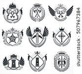 heraldic designs  vector...   Shutterstock .eps vector #507967384