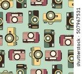 vector color retro seamless... | Shutterstock .eps vector #507967531