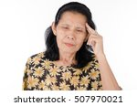 senior woman serious expression ... | Shutterstock . vector #507970021