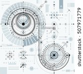 technical plan  engineering... | Shutterstock .eps vector #507971779