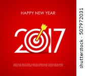 happy new year 2017 red vector... | Shutterstock .eps vector #507972031