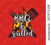 creative bbq logo design with... | Shutterstock .eps vector #507972109