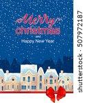 winter cityscape. christmas... | Shutterstock . vector #507972187
