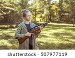 Young Girl Shooting From The...