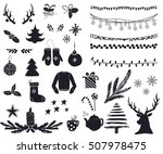 set of cute and simple... | Shutterstock .eps vector #507978475
