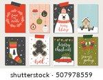 set of creative 8 journaling... | Shutterstock .eps vector #507978559