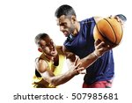 basketball players in action... | Shutterstock . vector #507985681