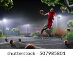 basketball player is working... | Shutterstock . vector #507985801
