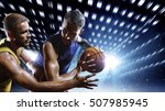 basketball players in action on ... | Shutterstock . vector #507985945