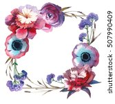 Wildflower Rose Flower Frame I...