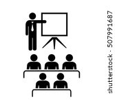 teacher and audience education... | Shutterstock .eps vector #507991687