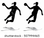 illustration of woman playing... | Shutterstock .eps vector #507994465