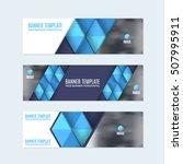 flat style blue website banner  ... | Shutterstock .eps vector #507995911