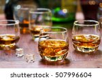 whiskey drinks with ice on...   Shutterstock . vector #507996604