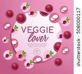veggie lover elements   vector... | Shutterstock .eps vector #508000117