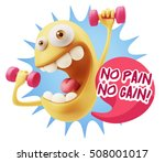 3d illustration gym fitness...   Shutterstock . vector #508001017