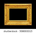 old gold wood frame isolated on ... | Shutterstock . vector #508003315