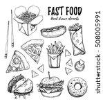 hand drawn vector illustration  ... | Shutterstock .eps vector #508005991
