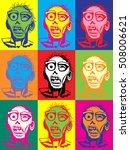 zombie pop art style...   Shutterstock . vector #508006621