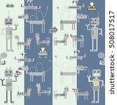 many different toy robots   men ... | Shutterstock .eps vector #508017517