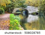 british landscape. old bridge... | Shutterstock . vector #508028785