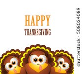 card for thanksgiving day. | Shutterstock .eps vector #508034089