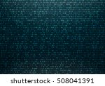 matrix background with blue... | Shutterstock .eps vector #508041391