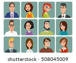 set of avatar icons. business... | Shutterstock .eps vector #508045009