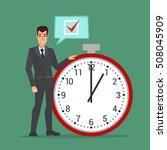 businessman think on task list  ... | Shutterstock .eps vector #508045909