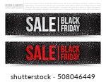 black friday sale vector web... | Shutterstock .eps vector #508046449