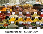 Spices On Display On Sale At...