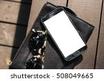 Blank Screen Smartphone  Flat...
