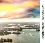 sydney harbour at sunset  nsw ... | Shutterstock . vector #508051324
