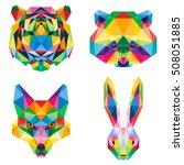 polygonal animal head teger...   Shutterstock .eps vector #508051885