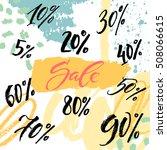 hand lettering sale discount... | Shutterstock .eps vector #508066615