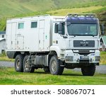 Small photo of ICELAND - September 18, 2015: MAN TGA 33.430 D20 Common Rail Action Mobil 6x6 Ultimate Overland Truck.
