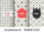 dog seamless pattern background.... | Shutterstock .eps vector #508067635